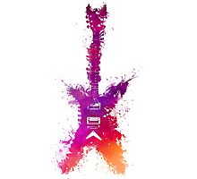 Purple Guitar Photographic Print