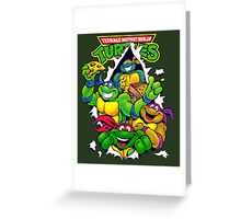 Retro Teenage Mutant Ninja Turtles Greeting Card