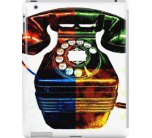 Pop Art Vintage Telephone 4 iPad Case/Skin
