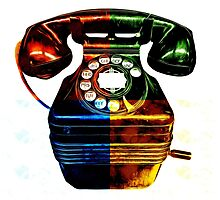 Pop Art Vintage Telephone 4 by Edward Fielding