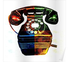 Pop Art Vintage Telephone 4 Poster