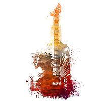 Fantasy guitar Photographic Print