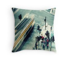 urban motion Throw Pillow