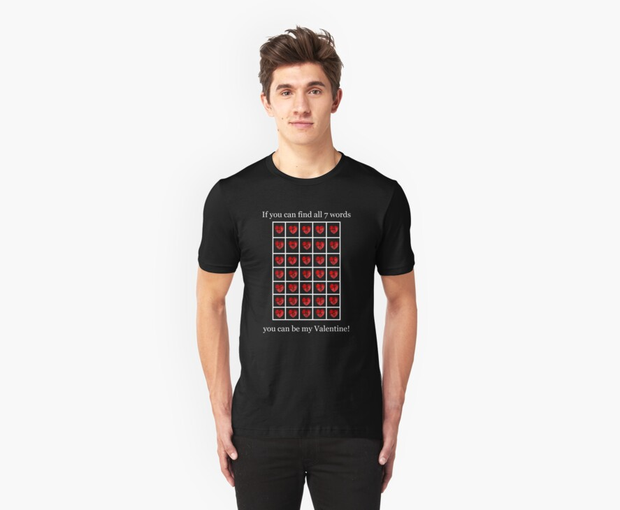 A Valentine Crossword T-Shirt by Lisa  Weber