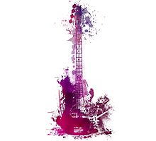 Prince Rogers Nelson Guitar Photographic Print