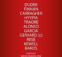 Liverpool - 2005 Champions League Final Team by ||    FlatBackFour     ||