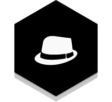Fedora diamond sticker by Finzy