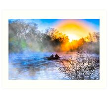 Fishing On The Flint River At Dawn - Georgia Landscapes Art Print