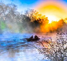 Fishing On The Flint River At Dawn - Georgia Landscapes by Mark Tisdale