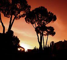 Sunset over Rome by Zarandona