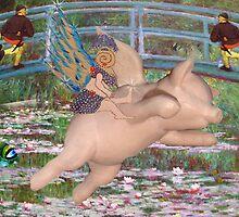 Pigs can fly!! - MONET-BRUEGEL-&-ME by Carol-Anne Kozik