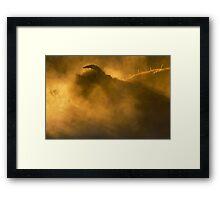 Thunder Beast Makes Fire Framed Print