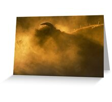 Thunder Beast Makes Fire Greeting Card