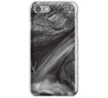 Indian Canyons 11: Andreas Creek Waterfall B&W Version iPhone Case/Skin