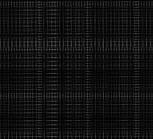 Black double grid print by weirdoodle