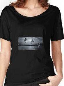 Seagulls flying in storm Women's Relaxed Fit T-Shirt