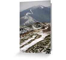 Snowy Paths of the Malverns Greeting Card