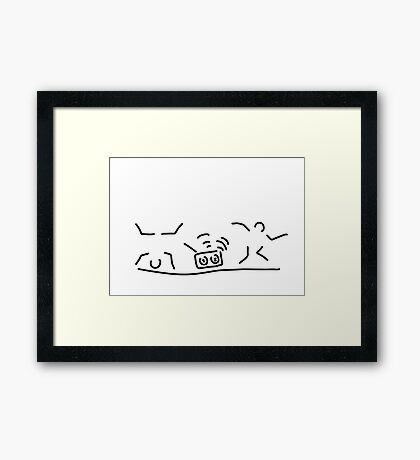 hiphop rap streetdance dancers Framed Print