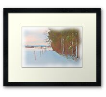 Winter Lane Framed Print