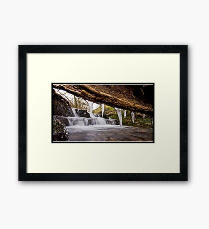 Icicle waterfall at Downham Framed Print