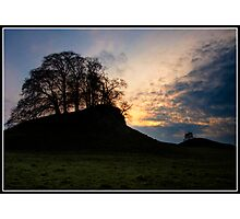 Grassy Knoll at sunset near Downham Photographic Print