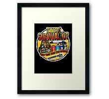 Zombie Survival Kit Framed Print