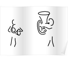 hornist tuba brass player Poster