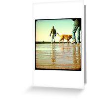 Exmouth Beach Part 1 Greeting Card