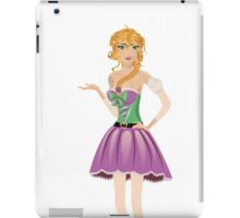 Blonde girl in spring dress iPad Case/Skin