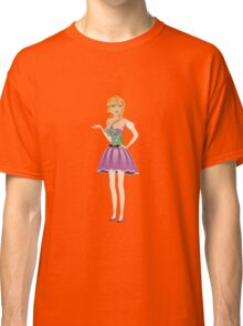 Blonde girl in spring dress Classic T-Shirt