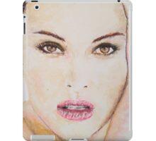 Natalie Portman, Pastels Portrait, by James Patrick iPad Case/Skin