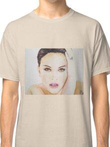 Natalie Portman, Pastels Portrait, by James Patrick Classic T-Shirt