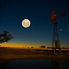 Multi-Exposure-Moon/Sunset by Murray Wills
