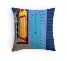 Brighton Bathing Boxes Throw Pillow
