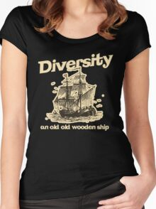 Diversity, an Old Old Wooden Ship Women's Fitted Scoop T-Shirt