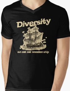 Diversity, an Old Old Wooden Ship Mens V-Neck T-Shirt