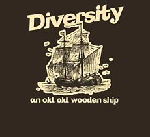 Diversity, an Old Old Wooden Ship Unisex T-Shirt