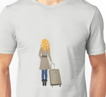 Woman with Suitcase Unisex T-Shirt