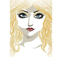 Blond girl with blue eyes Photographic Print