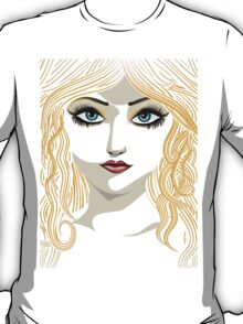 Blond girl with blue eyes T-Shirt