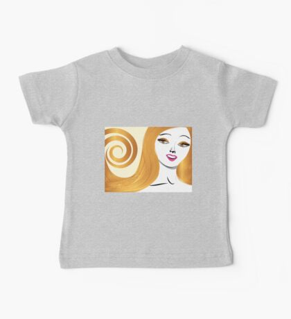 Blond girl with yellow eyes Baby Tee