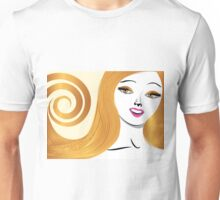 Blond girl with yellow eyes Unisex T-Shirt