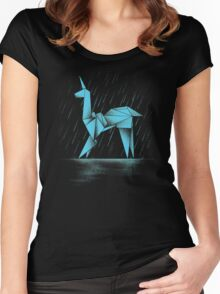 HUMAN OR REPLICANT Women's Fitted Scoop T-Shirt