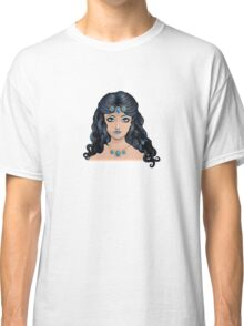 Fantasy blue haired girl Classic T-Shirt
