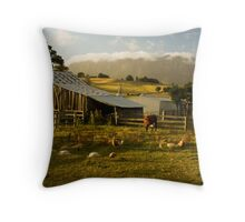 The Farmyard Throw Pillow