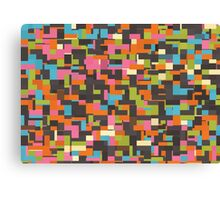 Colorful pixels Canvas Print