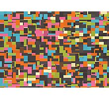 Colorful pixels Photographic Print