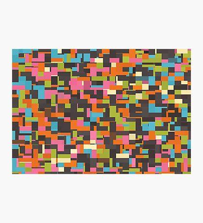 Colorful pixels Photographic Print