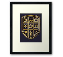NERD SHIELD Framed Print