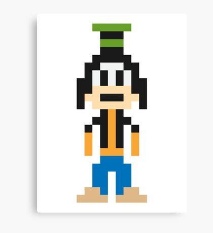 Goofy 8-Bit Canvas Print